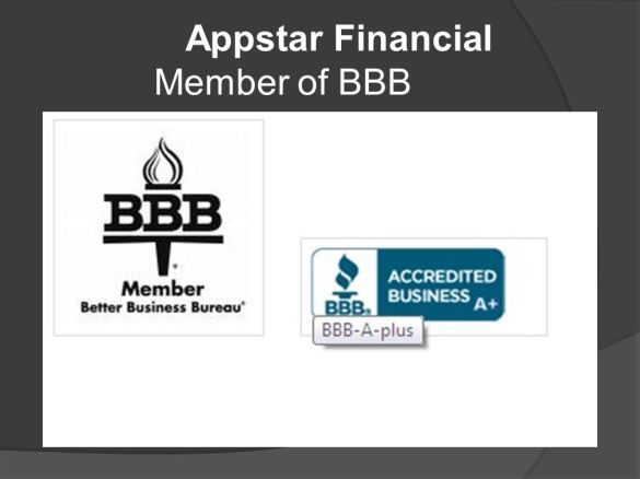 Appstar Financial Member of BBB